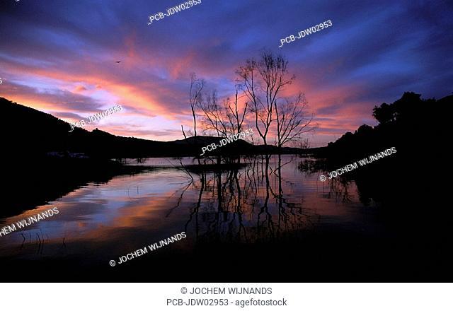 sierra de Grazalema mountain lake