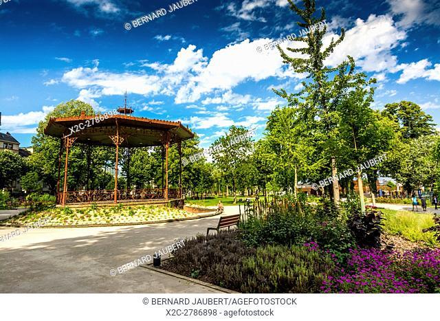 Rodez. Kiosk of garden foirail. Aveyron. France. Europe