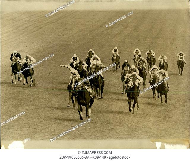 Jun. 06, 1965 - SEA BIRD II WINS THE DERBY. The French favourite SEA BIRD II, ridden by T.P. GLENNON). Today won the Derby at Epsom, with MEADOW COURT (L
