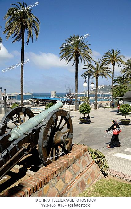 Cannon Seafront Port and Harbour Ceuta Spain