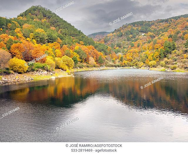 Pajarero's reservoir in the Sierra de Gredos. Santa Maria del Tietal. Avila. Castilla Leon. Spain. Europe