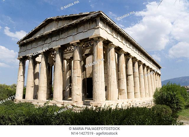 The Temple of Hephaestus, best-preserved ancient Greek temple, Athens, Greece