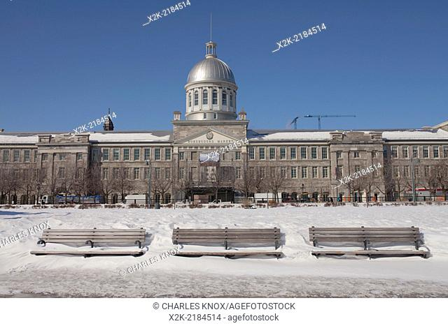 Bonsecours Market in winter , Montreal, Quebec, Canada