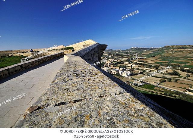 Ic-Cittadella, The Citadel, Victoria Rabat, Gozo island, Malta, Europe, november 2009