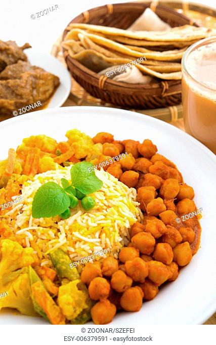 Indian rice biryani