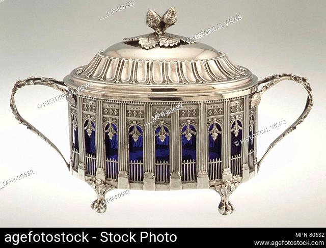 Sugar bowl with cover. Maker: Étienne Modenx (master 1777, recorded 1793); Date: 1786-87; Culture: French, Paris; Medium: Silver; Dimensions: H