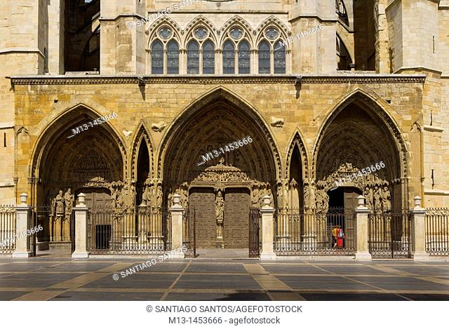 Cathedral of Santa Maria de Regla, León. Castilla y León. Spain