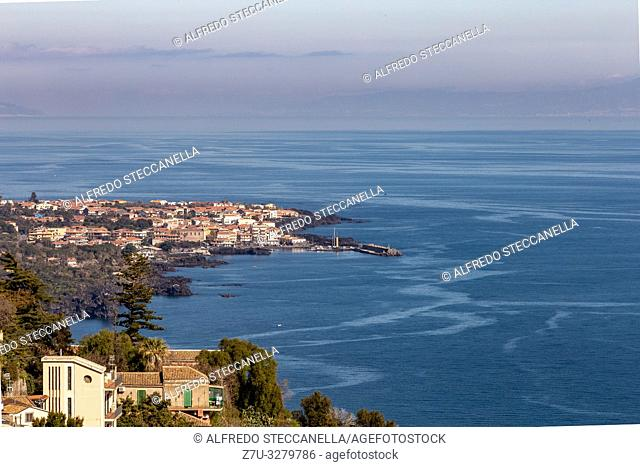 The lively beach town of Acireale, Sicily, in the province of Catania, is a major tourist destination