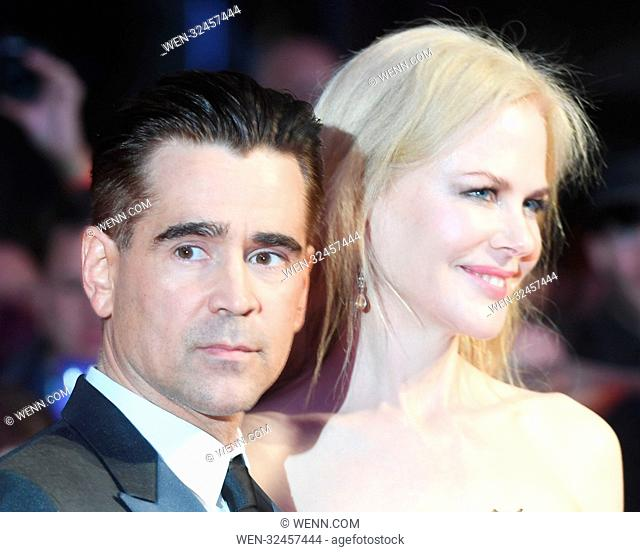 Premiere of 'Killing of a Sacred Deer' during the 61st BFI London Film Festival at the Odeon Leicester Square in London. Featuring: Colin Farrell