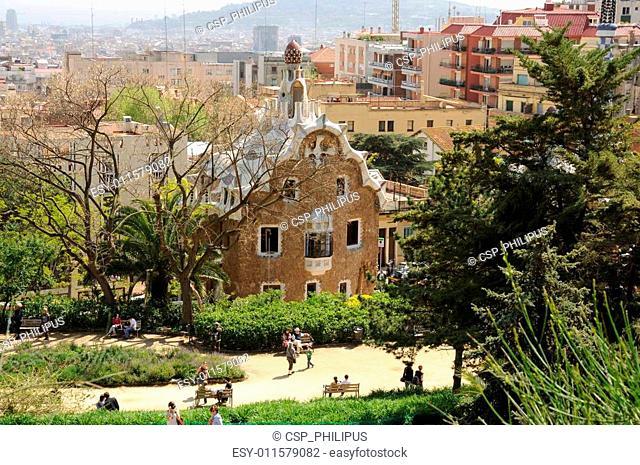Antoni Gaudis Parc G�ell, Barcelona Spain