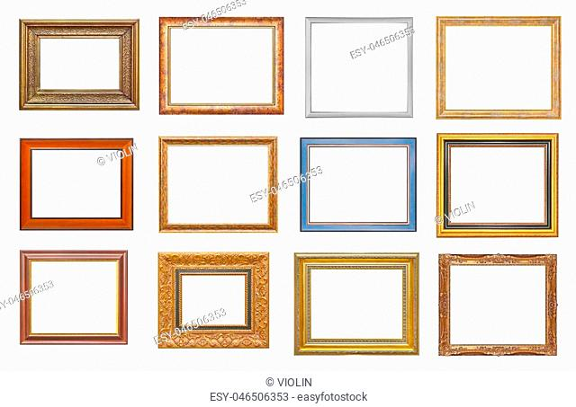 Set of frames isolated on white background