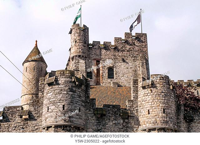 The Gravensteen or Castle of the Counts, Ghent, Belgium