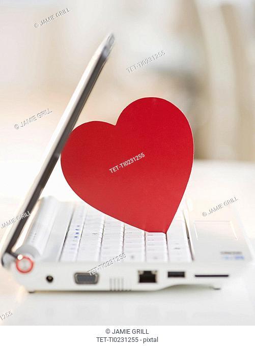 Heart on a laptop