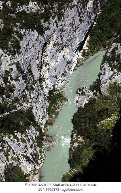 Verdon Gorge river canyon, Verdon Regional Natural Park, Provence-Alpes-Côte d'Azur, France