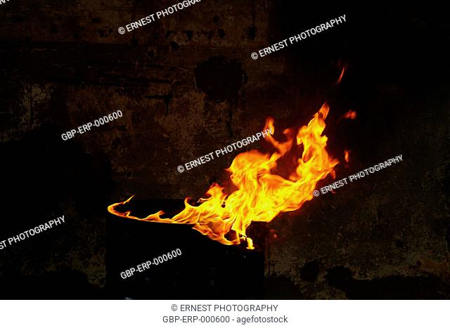 Pyre, fire, burner, isolated