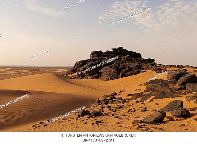 Sand dunes near Meroe, Nubian Desert, Nubia, Sudan