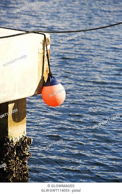 Close-up of a buoy
