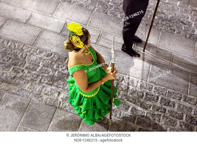 Virgen de la Peña Procession at Mijas fair, Malaga province, Andalusia, Spain