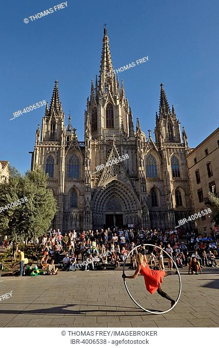 Cathedral of St. Eulalia, Barcelona, ??Catalonia, Spain