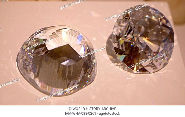 The Koh-i-Noor, a large, colourless diamond that was found near Guntur in Andhra Pradesh, India, weighing 793 Carats. Dated 13th Century