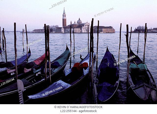 San Giorgio Maggiore island from St. Mark's Square. Venice. Veneto. Italy
