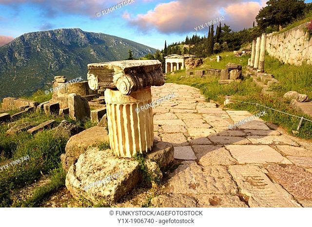 Ionic Coloumn  Delphi, archaeological site, Greece