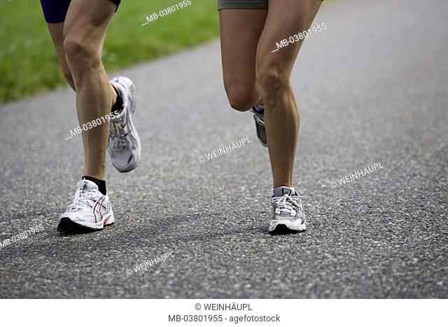 Country road, runners, detail, legs, Movement Sport, endurance sport, athletes, runners, participants, running, athletically, match, race, run sport