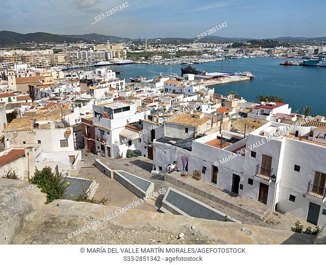 Eivissa Port. Ibiza. Islas Baleares. Spain. Europe