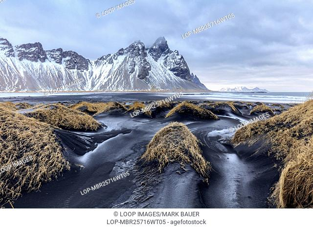 Vestrahorn on Stokksnes Peninsula on a winter afternoon