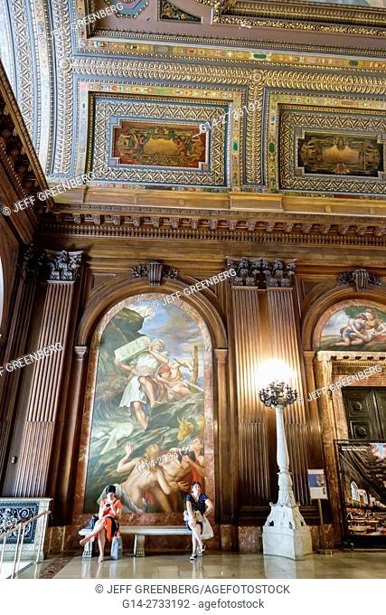 New York, New York City, NYC, Manhattan, Midtown, New York Public Library, Main Branch, Stephen Schwarzman Building, historic landmark, McGraw Rotunda