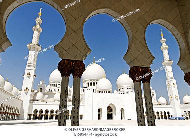Sheikh Zayed bin Sultan Al Nahjan Mosque, Grand Mosque, third biggest mosque in the world, Emirat Abu Dhabi, United Arab Emirates, Asia