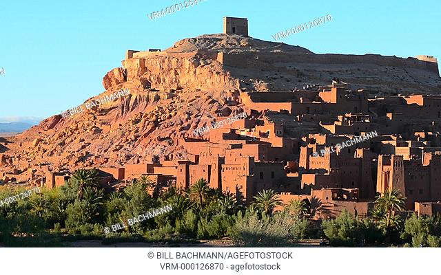 Morocco Kasbah Ait Benhaddon largest kasbah in Morocco souss-massa-draa site of many movies between Sahara Desert and Marrakech