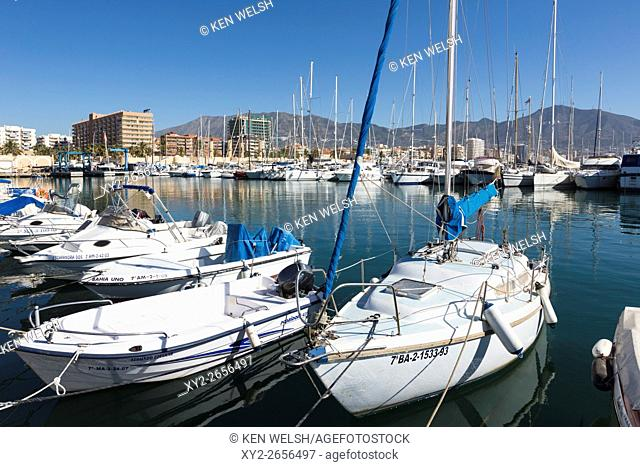 Fuengirola, Costa del Sol, Malaga Province, Andalusia, southern Spain. Leisure boats in harbour