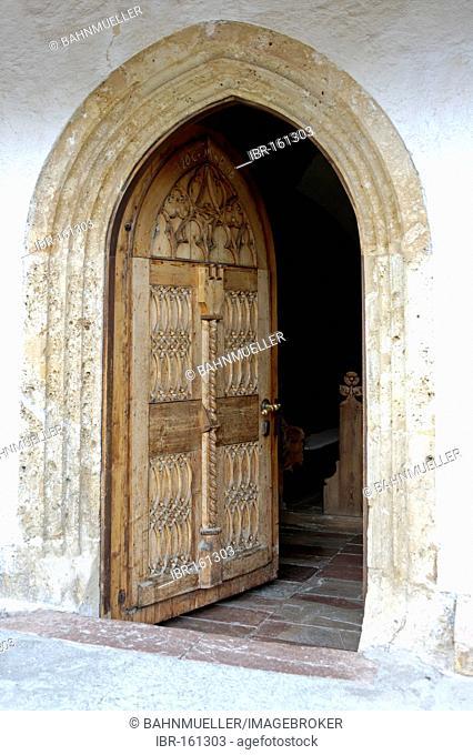 Altenmarkt in the Pongau Salzburg country Austria entrance in the church
