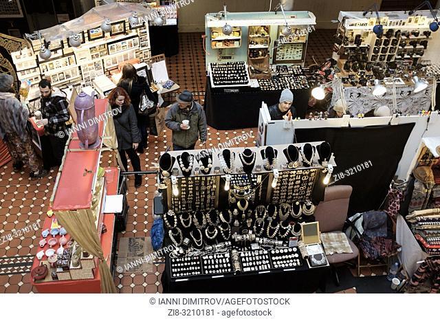 England,London, Camden Market-op view of vendors stalls