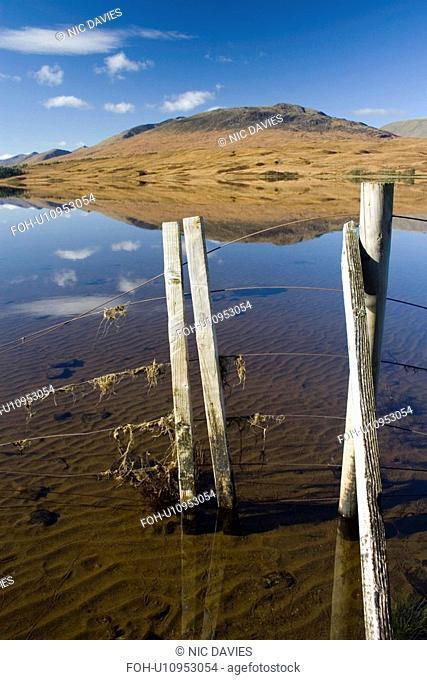 Freshwater loch. Black Mount by Rannoch Moor near Glencoe, Scotland