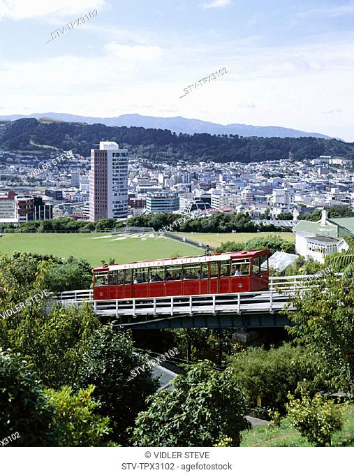 Cable car, City, Holiday, Landmark, New zealand, North island, Skyline, Tourism, Travel, Vacation, Wellington
