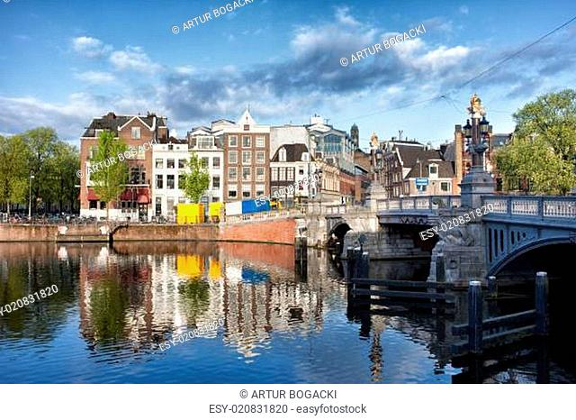 City of Amsterdam by the Amstel River