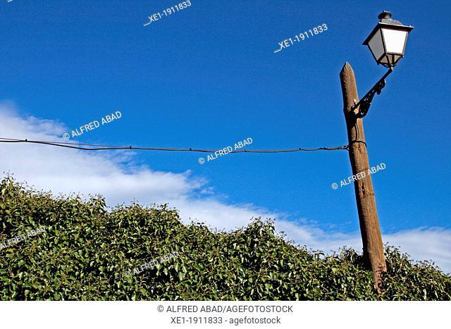 lamppost, Subirats, Catalonia, Spain