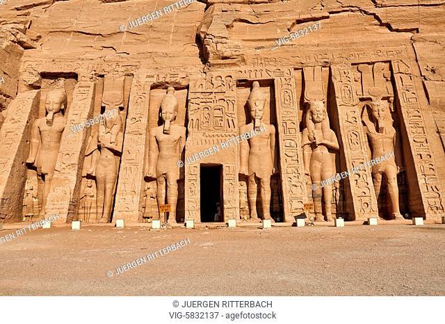 EGYPT, ABU SIMBEL, 11.11.2016, Temple of Nefertari, Abu Simbel temples, Egypt, Africa - Abu Simbel, Egypt, 11/11/2016