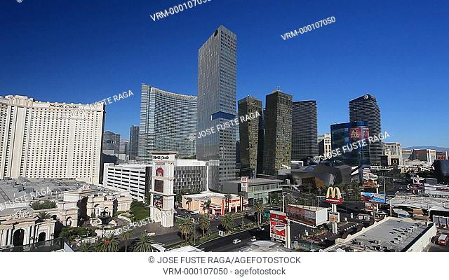 USA-Nevada-Las Vegas City-The Strip Avenue-The City Center Skyline