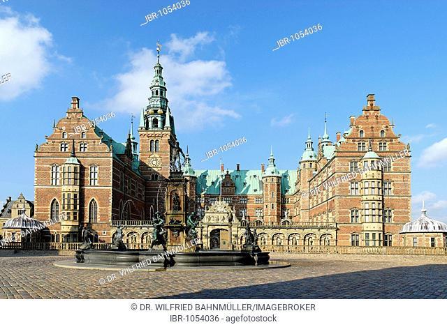 Frederiksborg castle, built 1600, Zealand, Denmark, Europe
