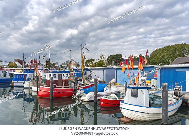 Harbor in Niendorf, Timmendorfer Strand Niendorf, Baltic Sea, Schleswig-Holstein, Germany, Europe