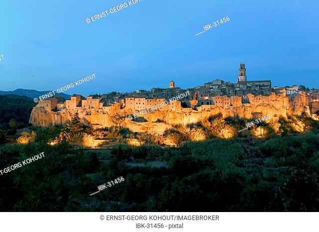 Evening in Pitigliano, Tuscany, Italy