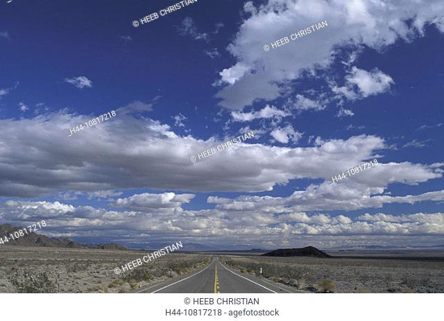 route 66 highways, Ludlow-Amboy, street, country road, scenery, desert, California, USA, United States, America