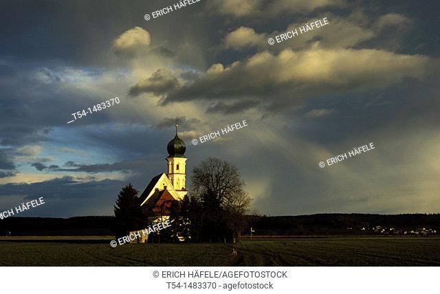 Catholic chapel at weather mood