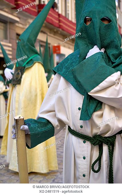 Malaga: the distinctive cloaks and hoods capirotes of Spanish Holy Week processions