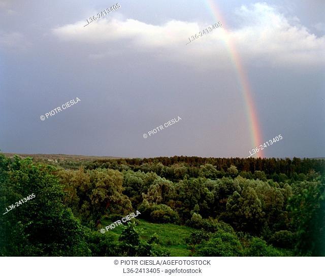 Rainbow. Mielnik. Poland