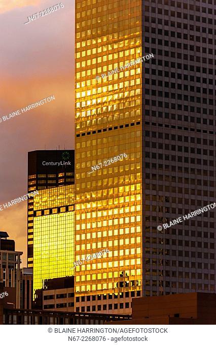 Office buildings, Downtown Denver, Colorado USA