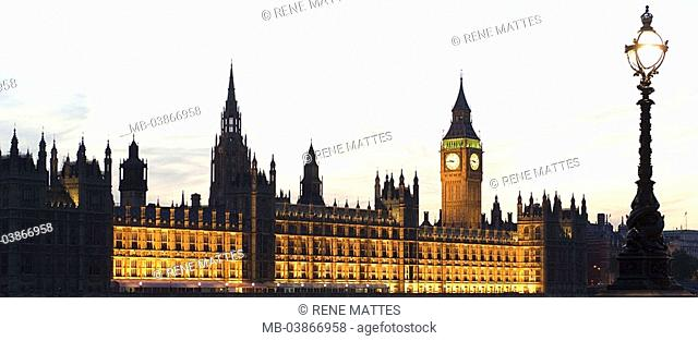 Great Britain, England, London, Houses of Parliament, Big Ben, illumination, twilight, series, Europe, city, capital, city-opinion, buildings, constructions